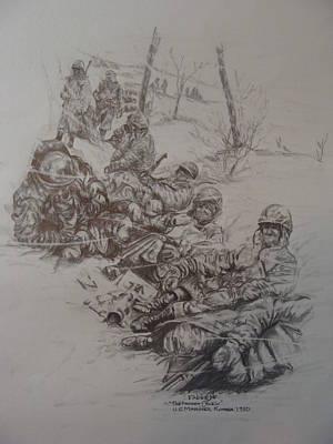 Marines In Korea Poster by Fabio Cedeno