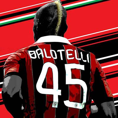 Mario Balotelli Ac Milan Print Poster
