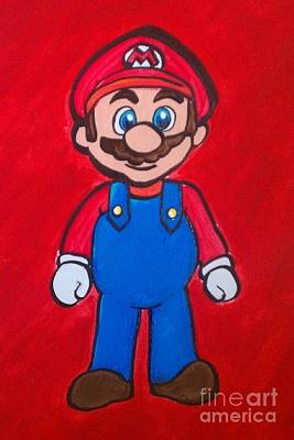 Poster featuring the painting Mario by Marisela Mungia