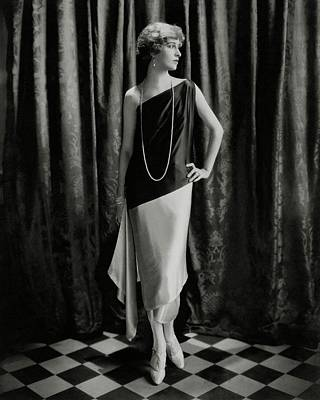 Marion Morehouse Wearing A Callot Dress Poster