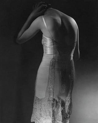 Marion Morehouse Wearing A Corset Poster by Edward Steichen