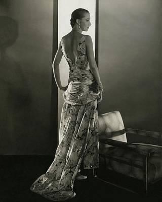 Marion Morehouse Wearing A Louiseboulanger Dress Poster by Edward Steichen