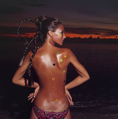 Marisa Berenson With Her Hair Braided Poster