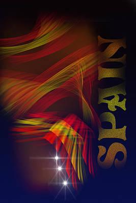 Mark Spain Poster by Angel Jesus De la Fuente