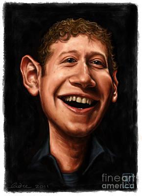 Mark Zuckerberg Poster by Andre Koekemoer