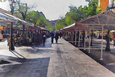 Market At Nice 2 Poster
