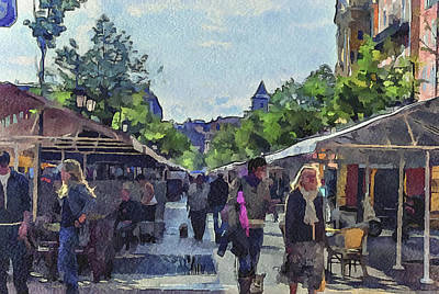Market At Nice Poster