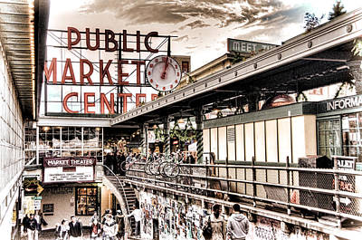 Market Center Poster by Spencer McDonald