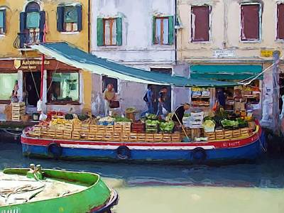 Market Day In Venice Poster