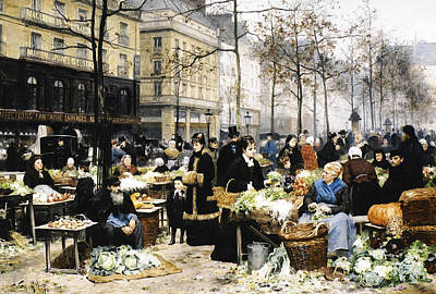 Market Day Poster by Victor Gabriel Gilbert