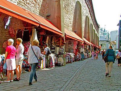 Market In Daytime In Old Town Tallinn-estonia Poster