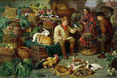 Market Scene Poster by Henry Charles Bryant