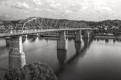Market Street Bridge Black And White Poster by Gregory Cook