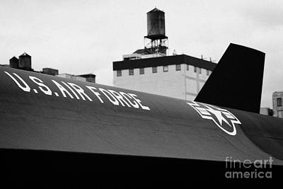markings on a Lockheed A12 Blackbird on the flight deck of the USS Intrepid  Poster