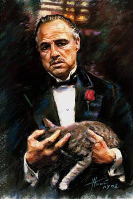 Marlon Brando The Godfather Poster