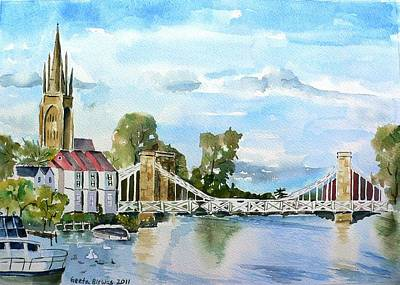Marlow On Thames 2 Poster by Geeta Biswas