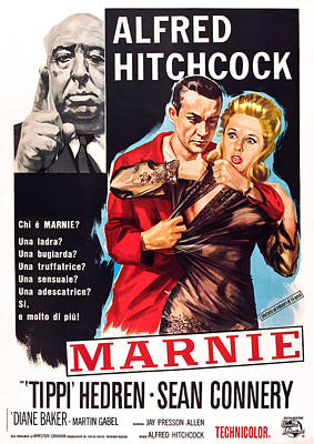 Marnie, L-r Alfred Hitchcock, Sean Poster by Everett