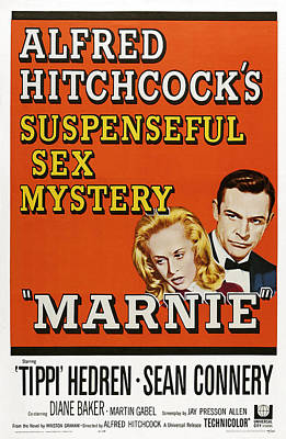 Marnie, Tippi Hedron, Sean Connery, 1964 Poster
