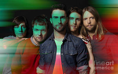 Maroon 5 Painting Poster by Marvin Blaine
