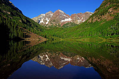 Maroon Bells Reflection Poster