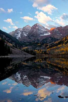 Poster featuring the photograph Maroon Bells by Ronda Kimbrow