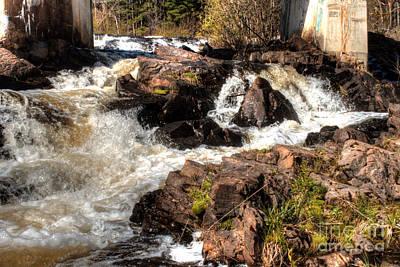 Marquette Rushing Waters 1 Poster by Deborah Smolinske