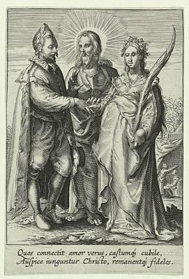 Marriage Of Spiritual Love, Jan Saenredam Poster