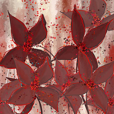 Marsala Floral Poster by Lourry Legarde