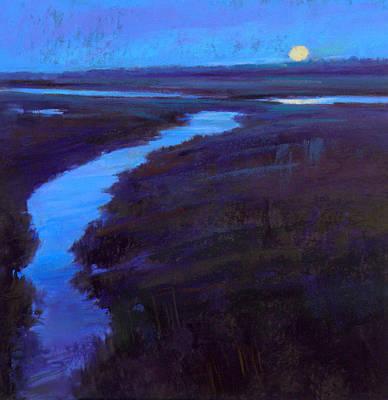 Marsh Moon Poster by Ed Chesnovitch