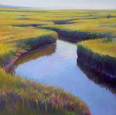 Marsh Rythmn Poster by Ed Chesnovitch
