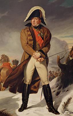 Marshal Michel Ney 1769-1815 Duke Of Elchingen Oil On Canvas Poster by Eugene Battaille