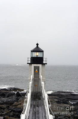 Marshall Point Light On A Foggy Day Poster
