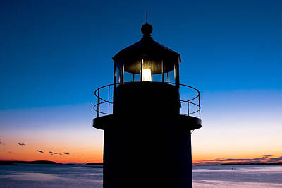 Marshall Point Lighthouse At Sunset In Maine Poster by Keith Webber Jr