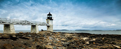 Marshall Point Lighthouse Panoramic Poster by David Smith