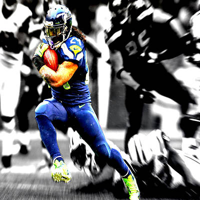 Marshawn Lynch Gimme The Ball Poster by Brian Reaves