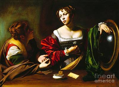 Martha And Mary Magdalene Poster by Pg Reproductions