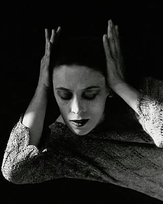 Martha Graham Wearing A Crocheted Dress Poster by Imogen Cunningham