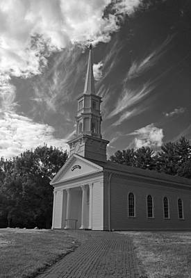 Martha Mary Chapel In Black And White Poster by Suzanne Gaff
