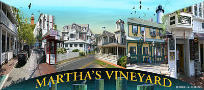 Martha's Vineyard Collage Poster by Gerry Robins