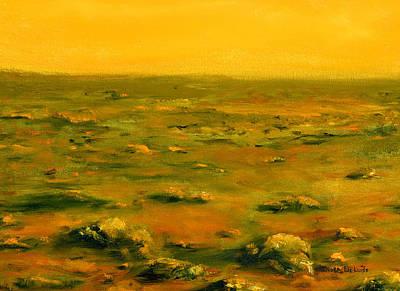 Martian Desert Landscape Art  Poster