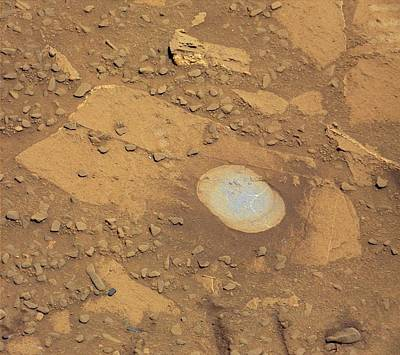 Martian Drilling Site Poster by Nasa/jpl-caltech/msss