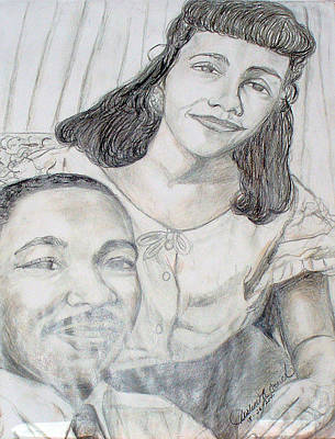 Dr. Martin Luther King And Coretta Scott King Poster by Darlene Ricks- Parker