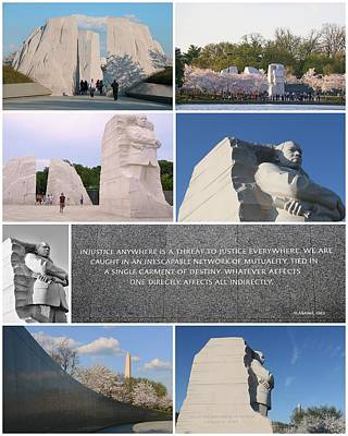 Martin Luther King Jr Memorial Collage 2 Poster by Allen Beatty