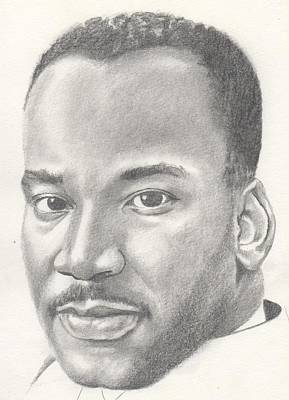 Martin Luther King Jr Poster by Michel Kress