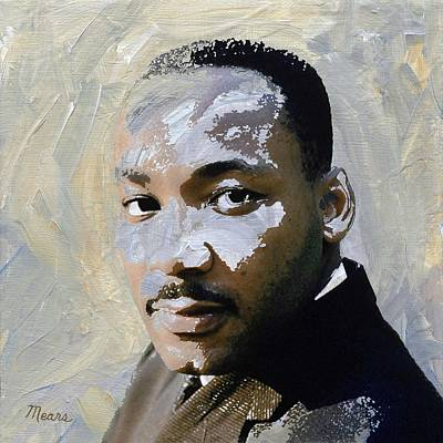 Martin Luther King Poster by Linda Mears