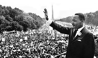 Martin Luther King The Great March On Washington Lincoln Memorial August 28 1963-2014 Poster by David Lee Guss