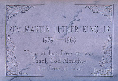 Martin Luther Kings Grave Poster