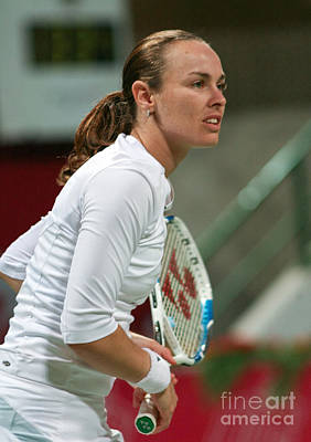 Martina Hingis In Doha Poster by Paul Cowan