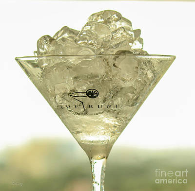 Martini On The Rocks Poster by Rene Triay Photography