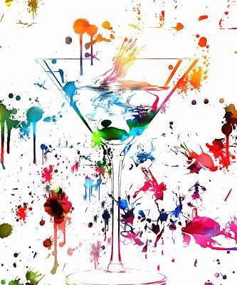 Martini Paint Splatter Poster by Dan Sproul